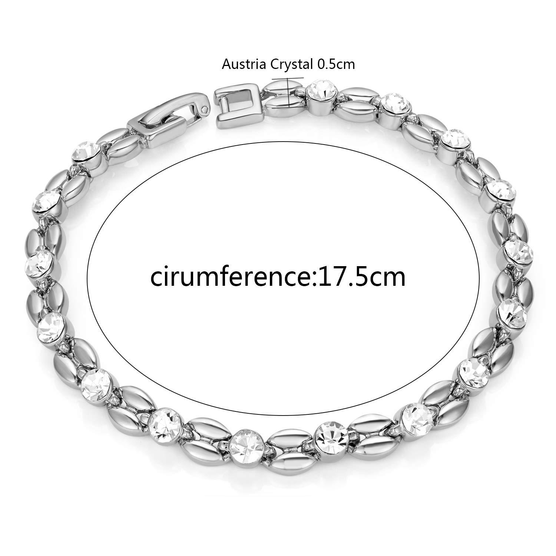 Yoursfs Cubic Zircon Crystal Bracelet Ear Wheat Flower Shape CZ Tennis Bracelet Women