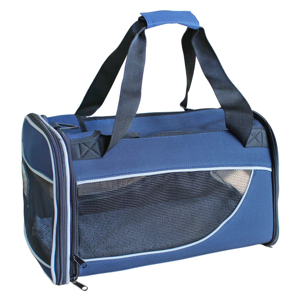 Rectangle bluee Pet Bag Out of Portable Dog Pet Supplies Can Be Folded