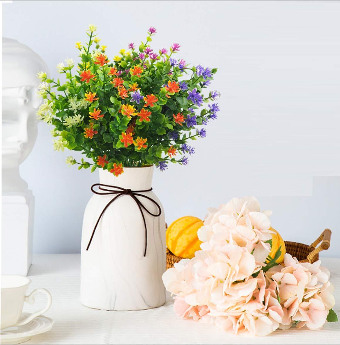 LUCKY-SNAIL-Artificial-Flowers-Fake-Outdoor-UV-Resistant-Boxwood-Shrubs-Plants-Lifelike-Plastic-Flowers-for-Indoor-Outdoors-Home-Office-Garden-Wedding-Sidewalk-Trim-Decor5-PcsMixture