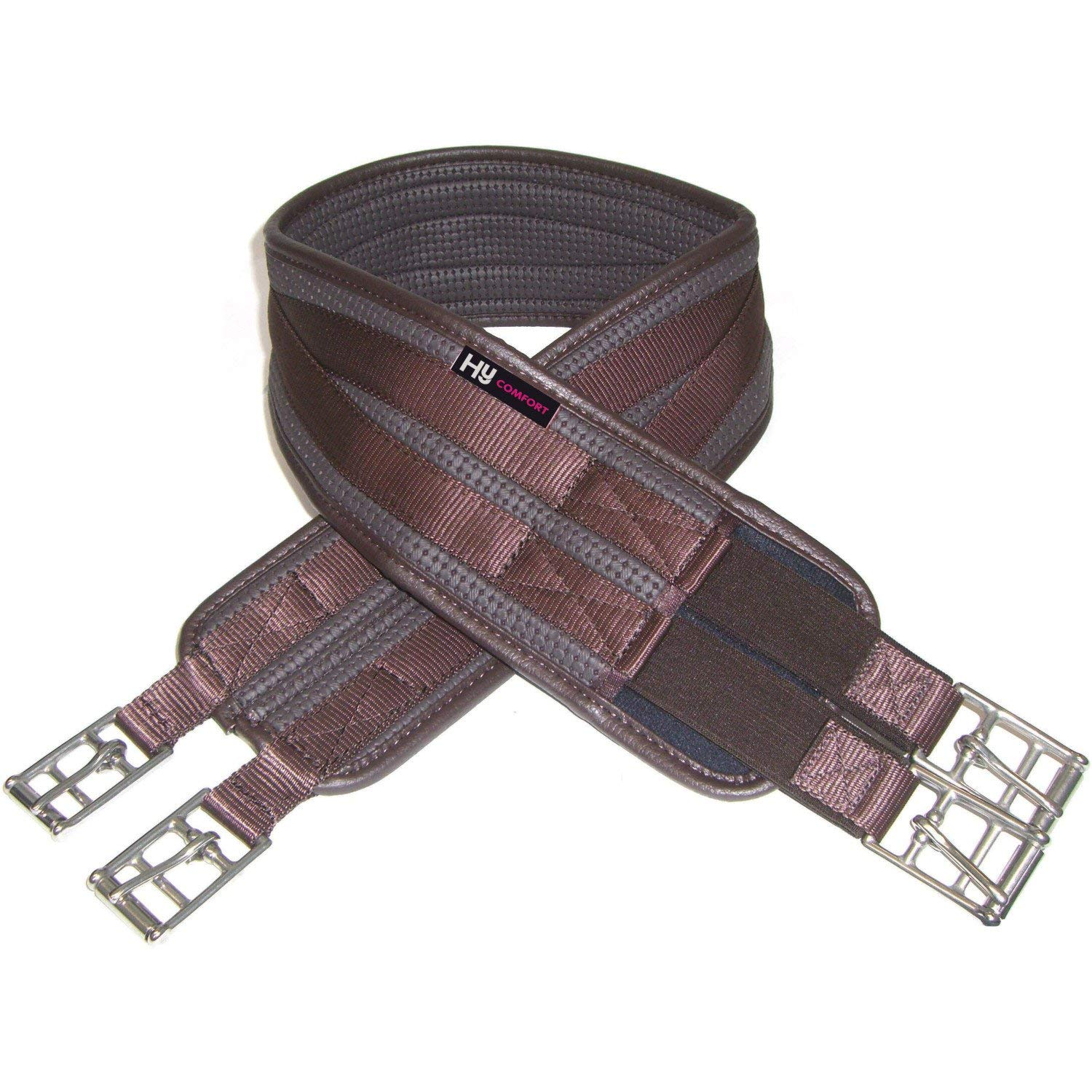 Hy Comfort One End Elasticated Waffle Girths 60 inch brown