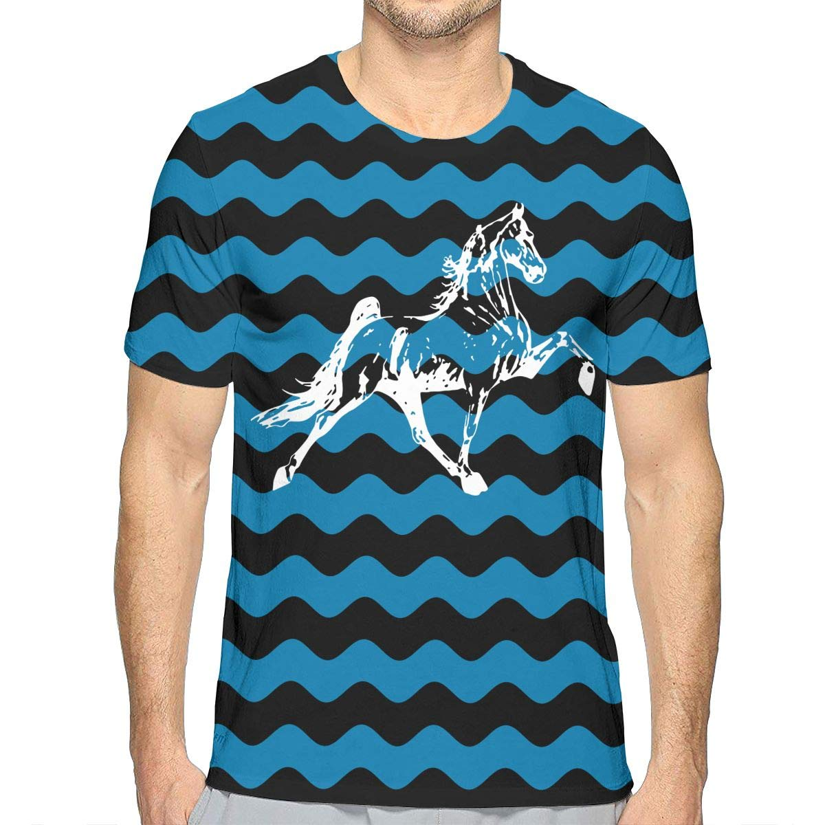 JJKKFG-H Tennessee Walking Horse Mens Fashion Short-Sleeved Tshirts