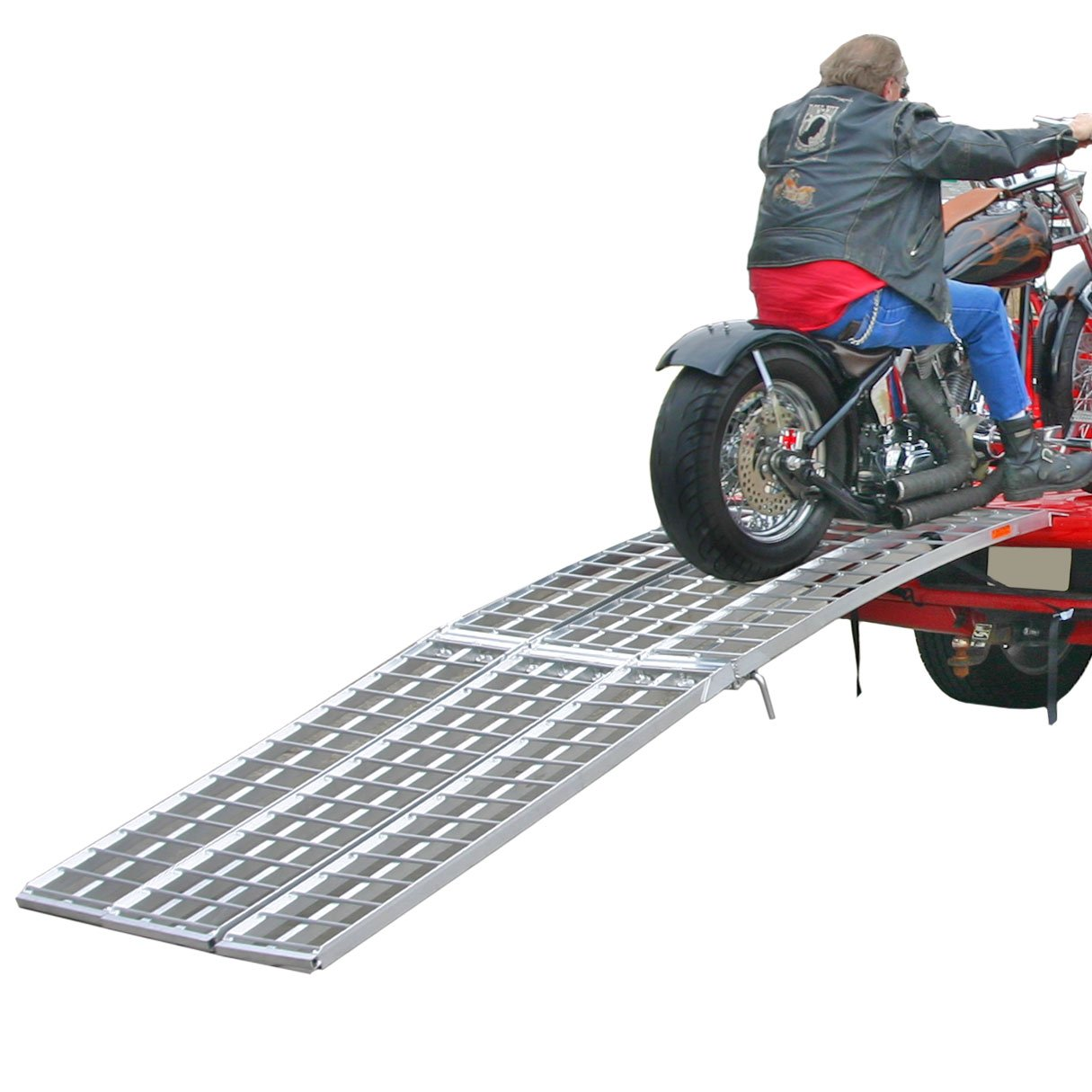 Black Widow MF-12038 120'' 3-Beam Wide Aluminum Folding Arched Motorcycle Ramp