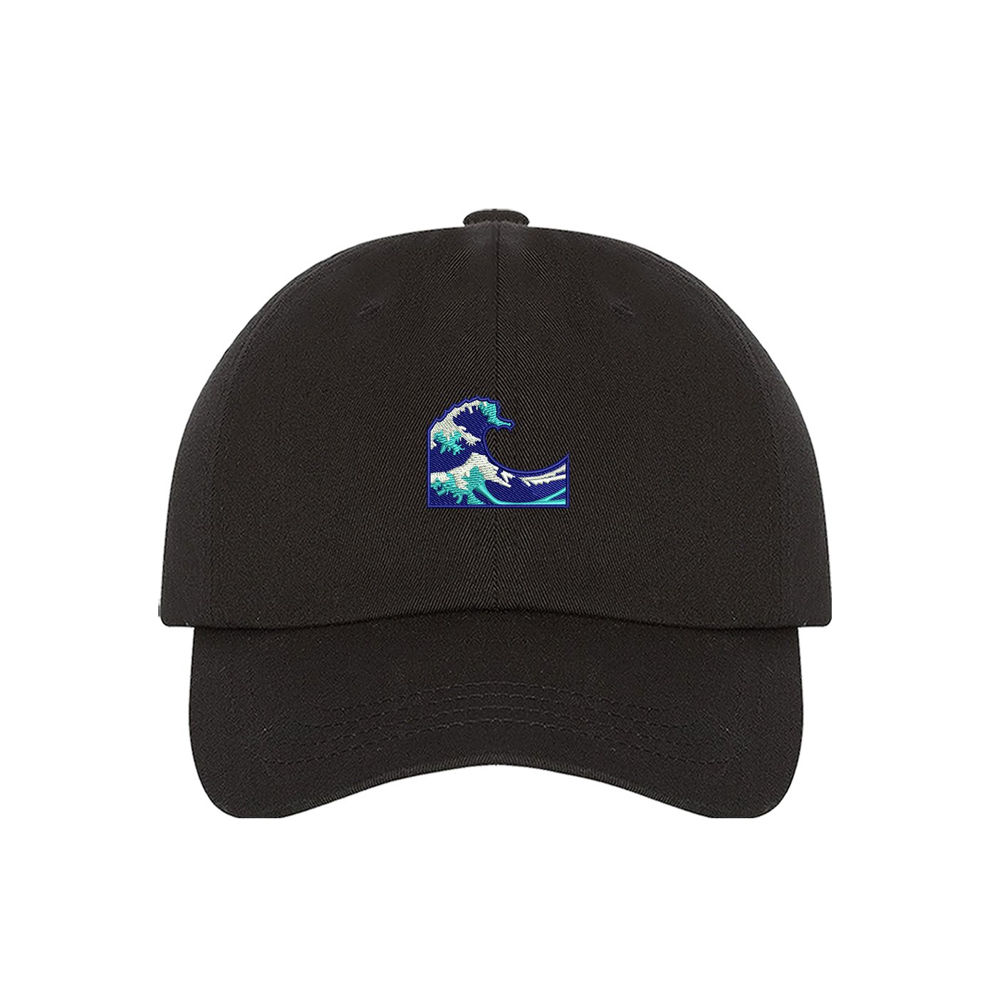 Prfcto Lifestyle Wave Emoji Dad Hat - Black Baseball Hat - Unisex