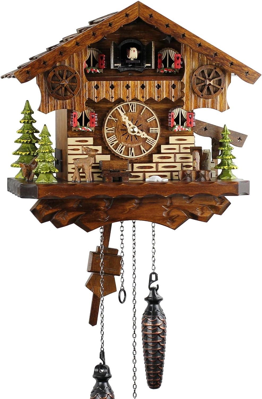 Selva NEGRA uhrenfabrik kammerer reloj de madera con mecanismo de pilas y cuco - oferta de relojes-Park Eble - Engstler - casa bosque negro 26 cm - 445 Q