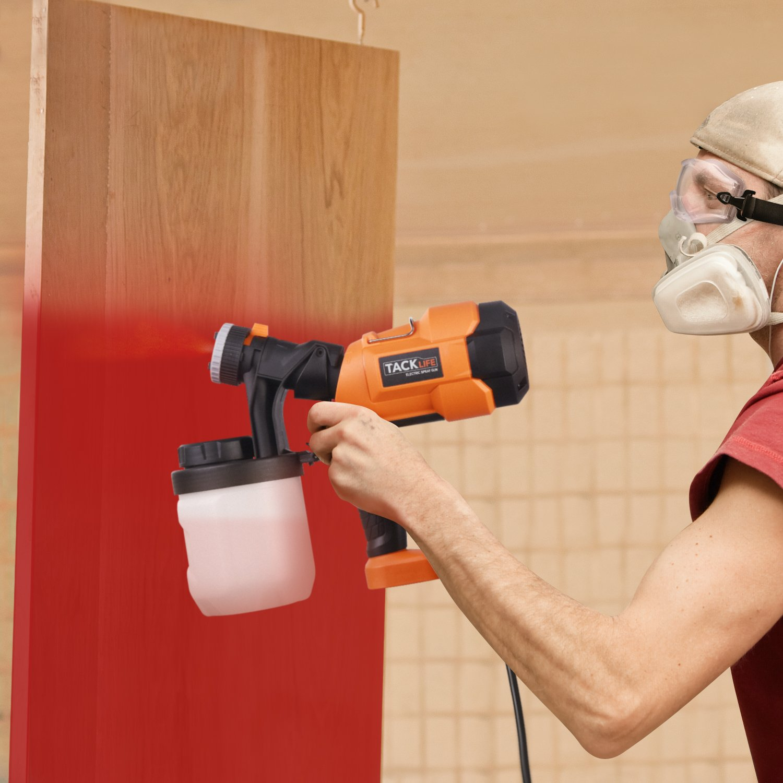 Tacklife Sgp15Ac Advanced Electric Spray Gun 800Mlmin Paint Sprayer With