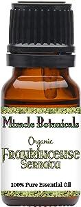 Miracle Botanicals Organic Frankincense Essential Oil - 100% Pure Boswellia Serrata - Therapeutic Grade - India - 10ml