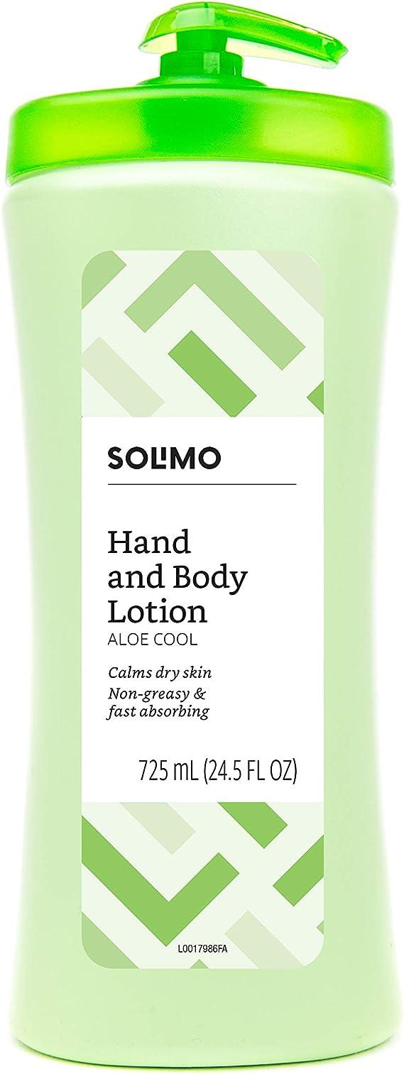 Amazon Brand - Solimo Aloe Cool Hand & Body Lotion