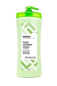 Amazon Brand - Solimo Aloe Cool Hand & Body Lotion, 24.5 Fluid Ounce