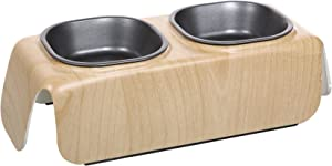Catit Design Faux Wood Elevated Dinner Bowl
