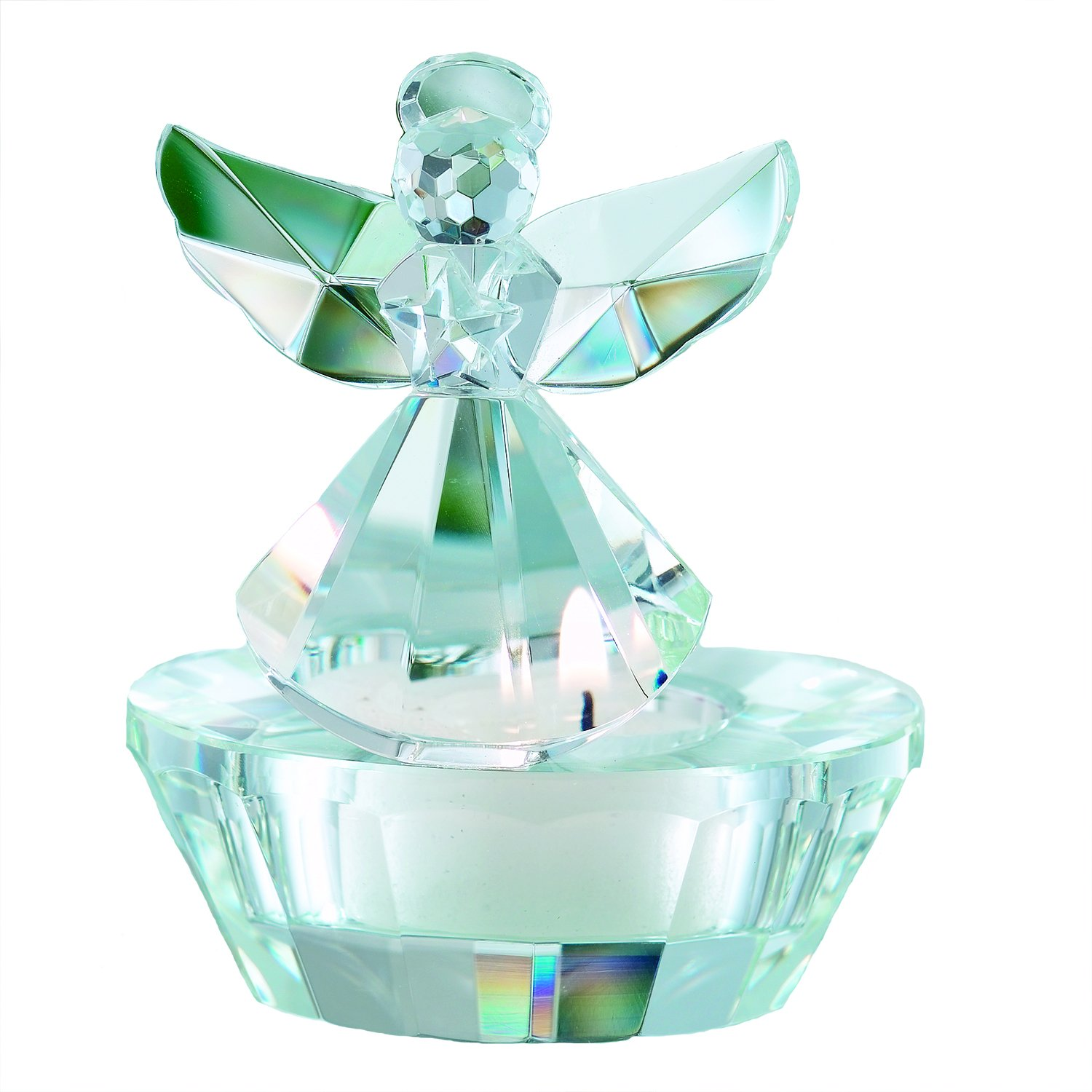 Irish Galway Crystal Angel Votive Candle Holder
