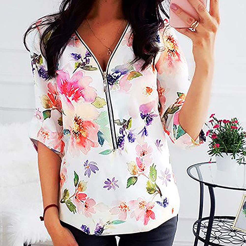 KPILP - Camiseta de Manga Larga para Mujer Rosa S: Amazon.es: Ropa ...