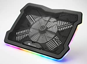 irocks RGB Laptop Cooling Pad Adjustable Angle 15-17 Inch Gaming Laptop Stand with USB Cooler Fan C46E