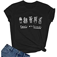 BLACKMYTH Women's Graphic Funny T Shirt Cute Tops Teen Girl Tees