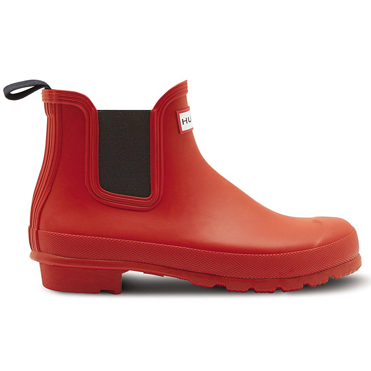 Womens Hunter Original Chelsea Wellingtons Waterproof 9 Rain Ankle Boots B01DKRFAA4 9 Waterproof B(M) US|Military Red f2cc89