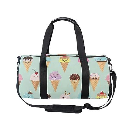 e858b50c67e Image Unavailable. Image not available for. Color  OuLian Duffel Bag Cute  Ice Cream Women Garment ...
