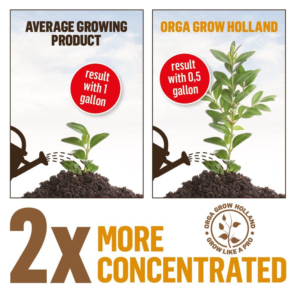 Organic Nutrients For Marijuana Plants – Liquid Fertilizer For Hydroponic, Vegetables, Fruit & Cannabis – (4PACK) Root Stimulator, Healthy Growth, Abundant Flowering, Growers Kit – Orga Grow Holland