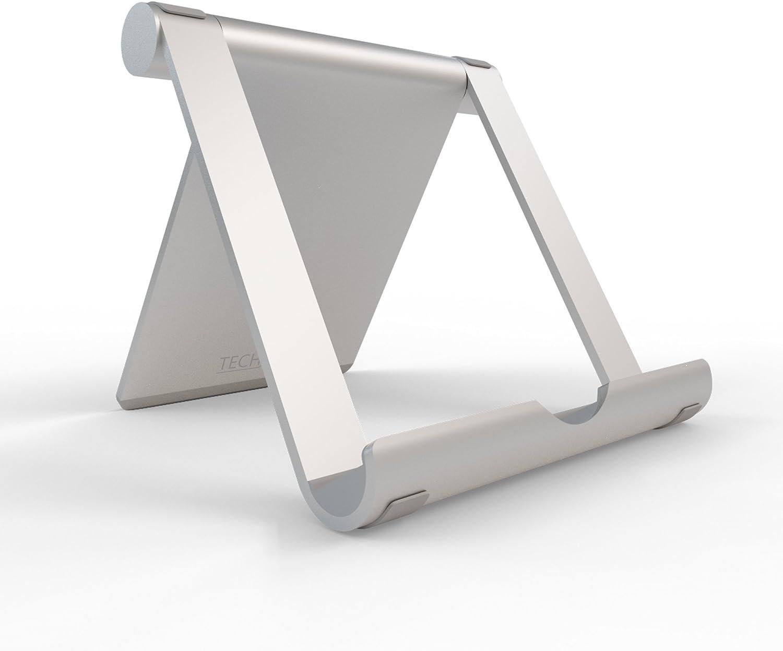TechMatte Multi-Angle iPad Pro Stand-Aluminum Desktop Tablet Holder (Silver)