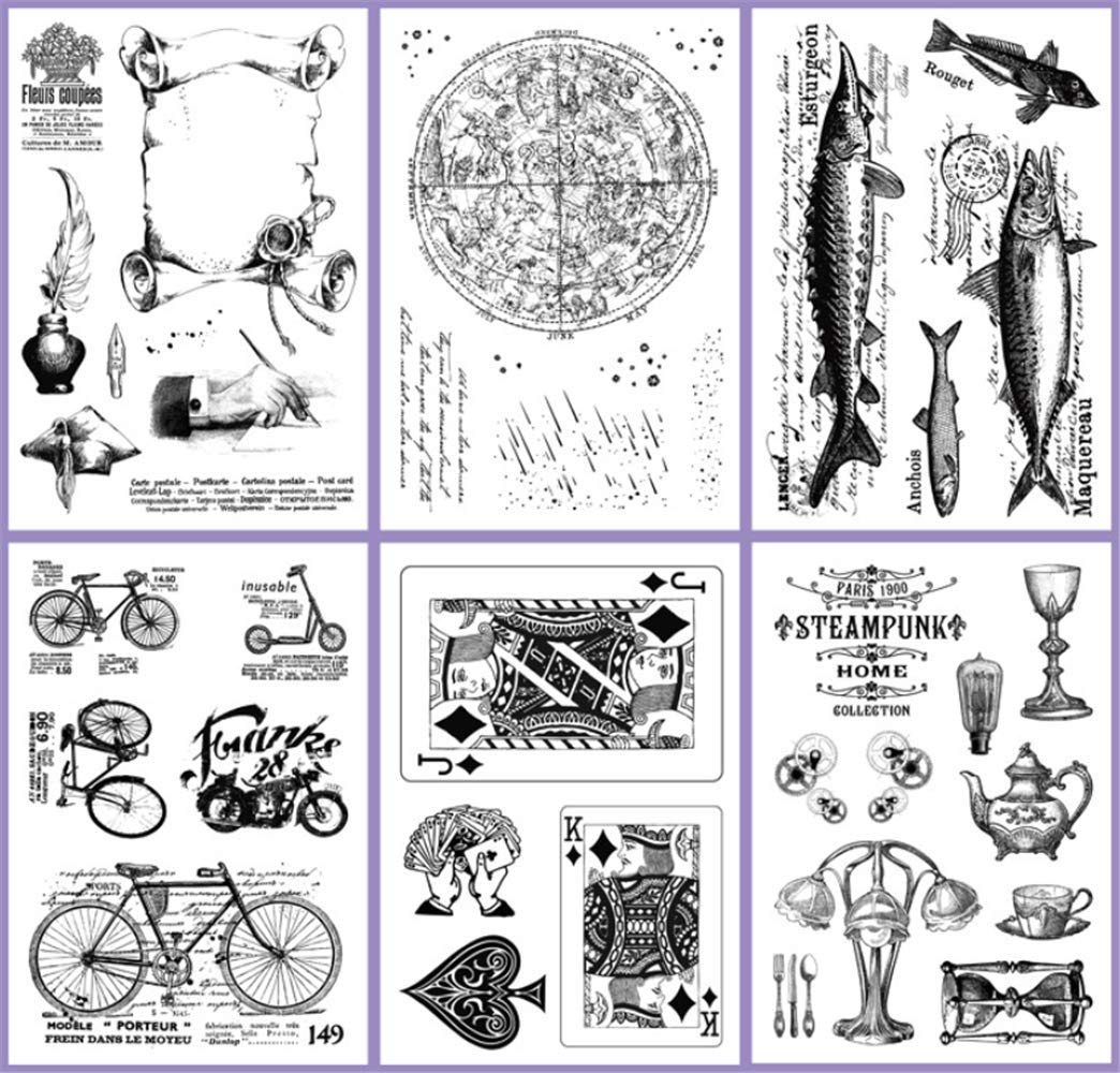 Layhome Newest Clear Stamp Silicone Stamp Scrapbooking Stamping (Learning) by Layhome (Image #3)