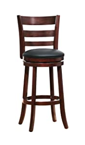 "Homelegance Shapel Swivel Barstool, 29""SH, Cherry"