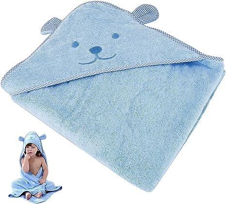 ZhongYeYuanDianZiKeJi Toalla bebé capucha grande capa de baño ...