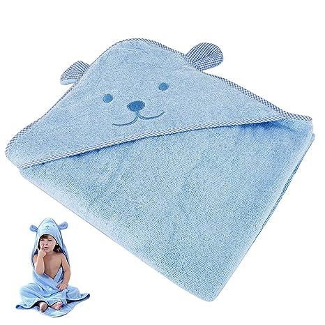ZhongYeYuanDianZiKeJi Toalla bebé capucha grande capa de baño albornoz 90x90cm Suave algodón absorbente para Animales Sin