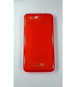 Funda de gel TPU carcasa protectora silicona para Wiko Rainbow Jam Roja