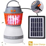 Camping Lantern 2-1 Solar Lights Outdoor Mosquito Repellent Lamp Quiet 4 Light Modes, Waterproof IP67 Washable for Safe Insect Repellent, Solar & USB Rechargeable Compact & Lightweight Camping Travel Lantern LETOUR