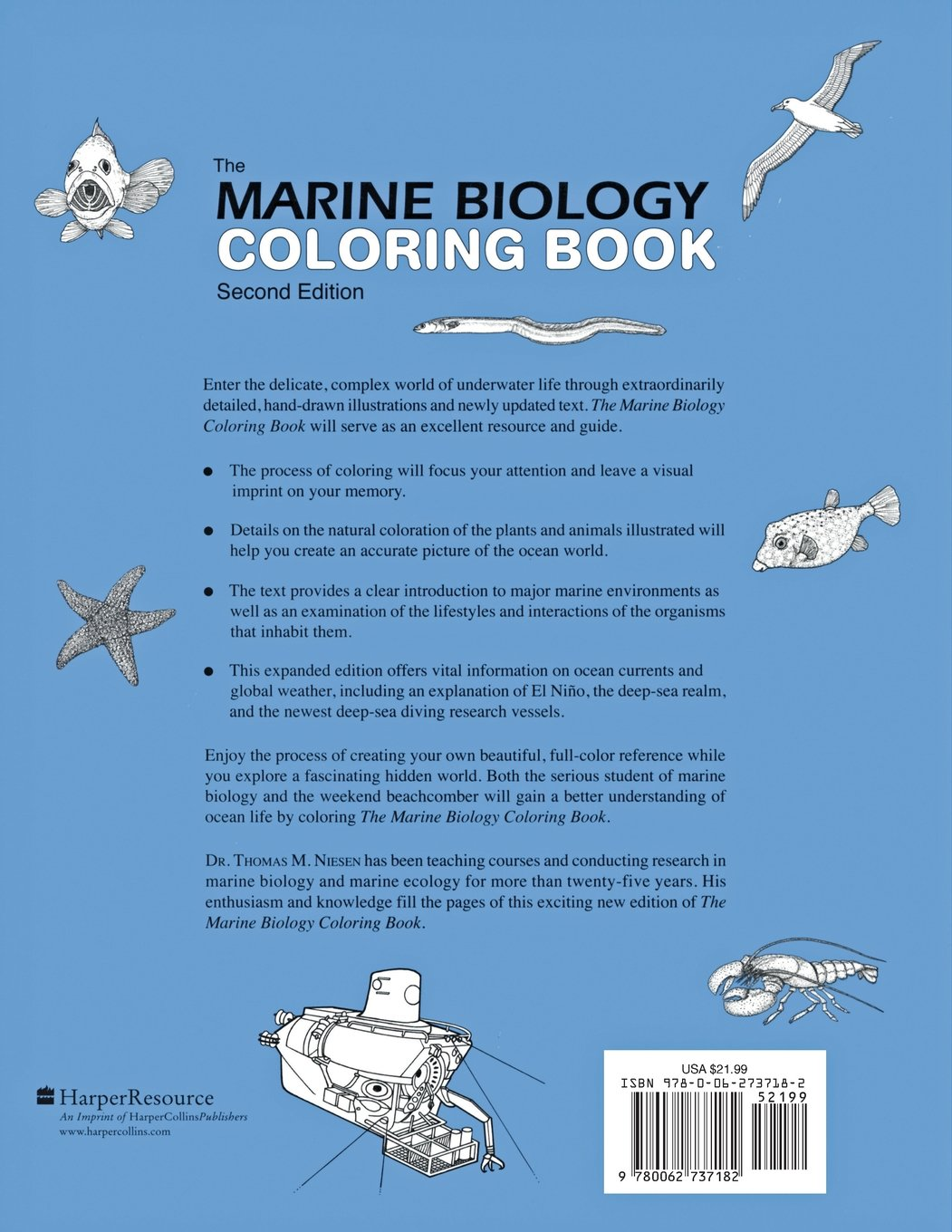the marine biology coloring book second edition thomas m niesen