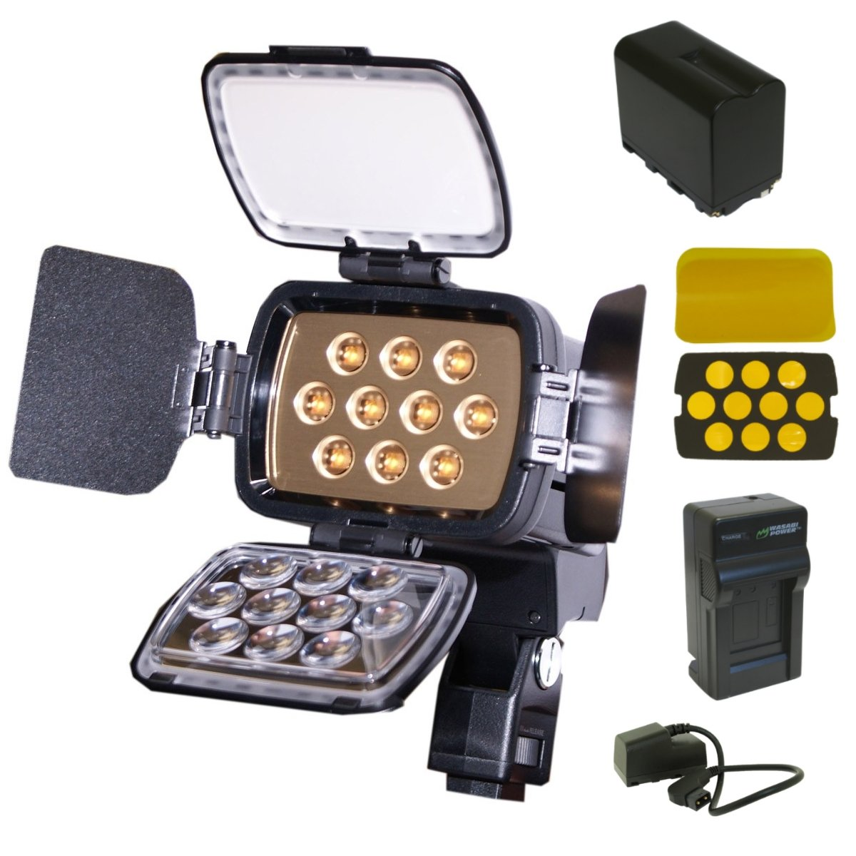 Wasabi Power Replacement for Sony HVL-LBPA / HVL-LBPB High Power LED Video Light with Battery and Charger