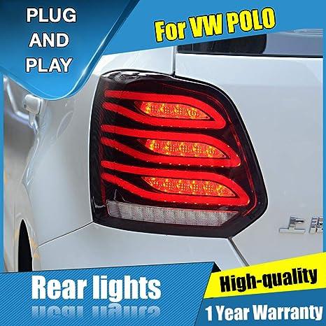 Faro trasero LED para Polo 2013-2017, luz de freno trasera, luz de ...