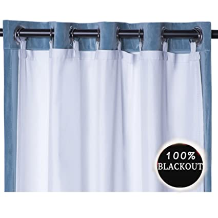 rhf thermal insulated blackout curtain liner white panel ring included thermal liner for curtains - Thermal Curtains