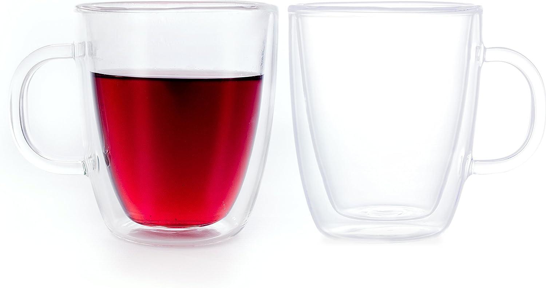 Green Spirit Premium XL Espresso Tassen 6er Set Glas