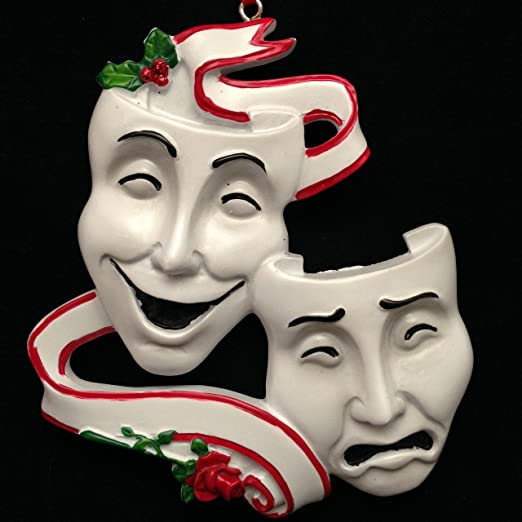 Theatre Masks Personalized Christmas Ornament
