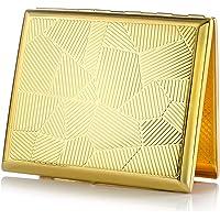 Pitillera de Metal de Color Dorado, para 20