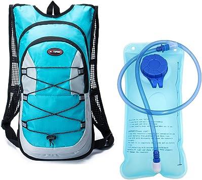 Monvecle Sistema de hidratación Agua Mochila Mochila vejiga Bolsa Bicicleta/Senderismo Escalada Bolsa + 2L hidratación vejiga