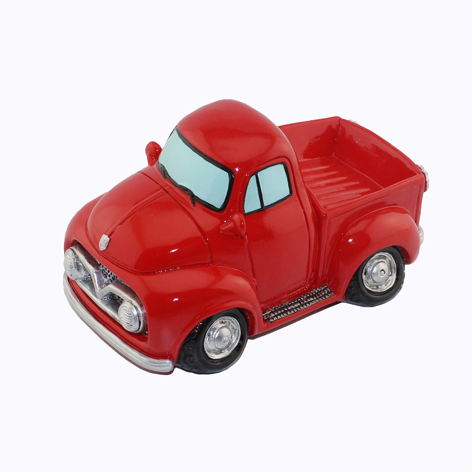 Car Money Bank Coin Bank Room Decor (Red Pickup Truck Car)
