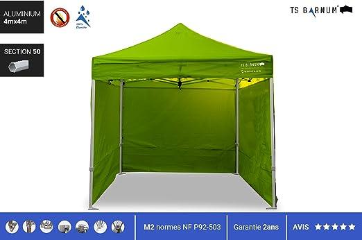 Barnum - Carpa Plegable de Aluminio #50 - Barnum - Pérgola Plegable - Pabellón - Sombrillas, toldos y toldos - Muebles de jardín, Color Verde, tamaño 4m x 4m (M2), 77.16, 86.61 x 12.99 x 17.32inches: Amazon.es: Jardín