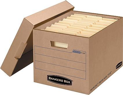 Fellowes Bankers Box – Caja archivador de bloqueo de caja de ...
