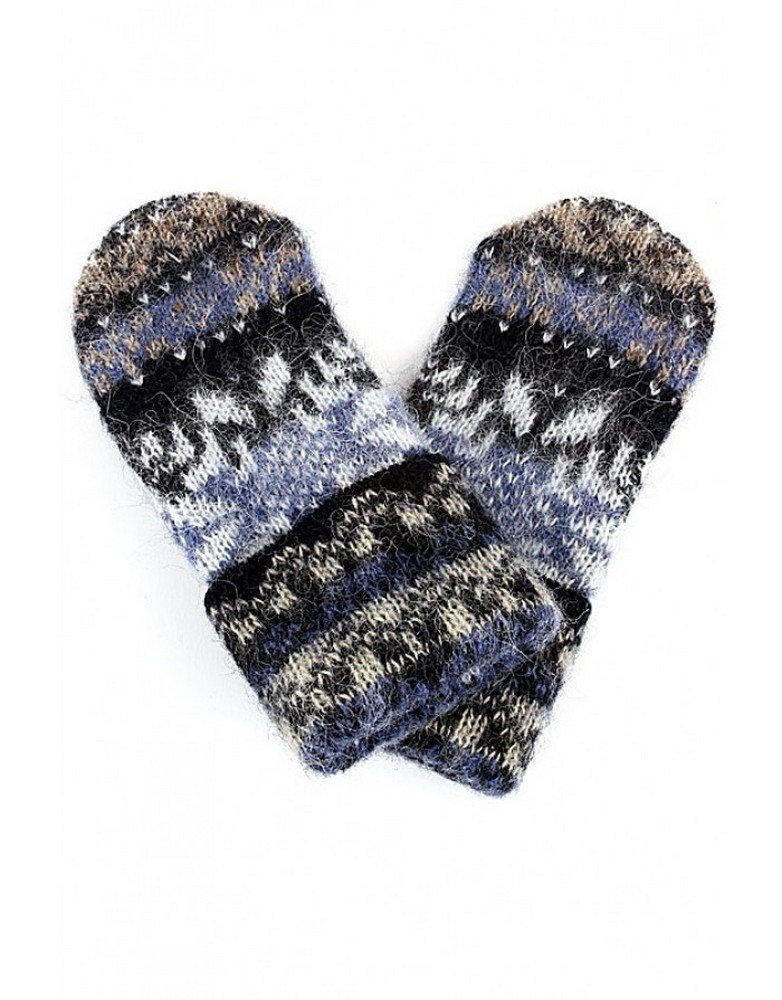 Women Knit Mittens 100% Icelandic Wool Fleece Lined by Freyja Canada