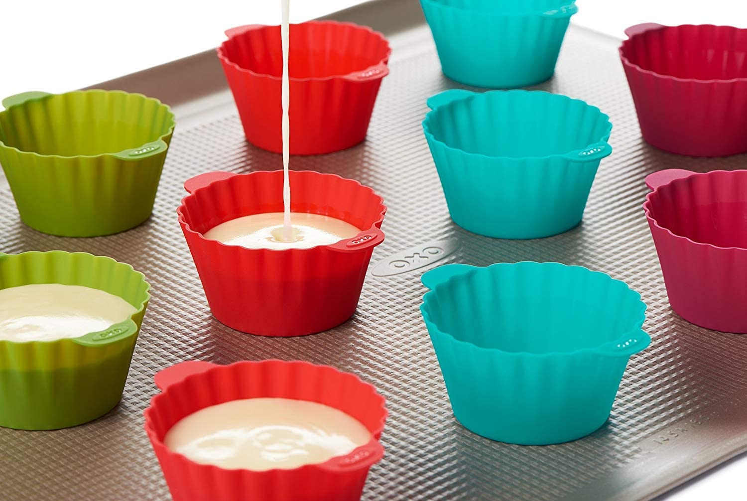 OXO Good Grips Reusable Silicone Baking Cups 24 Pack