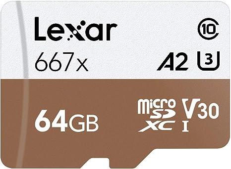 Amazon.com: Lexar Professional 667x - Tarjeta microSDXC UHS ...