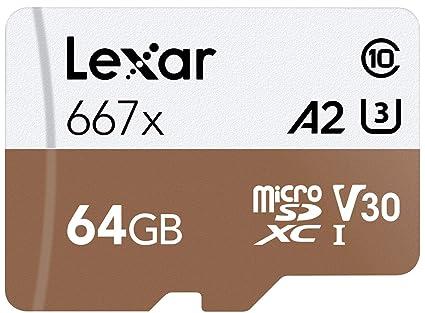 Lexar Professional 667x - Tarjeta microSDXC UHS-I/U3 (64 GB ...