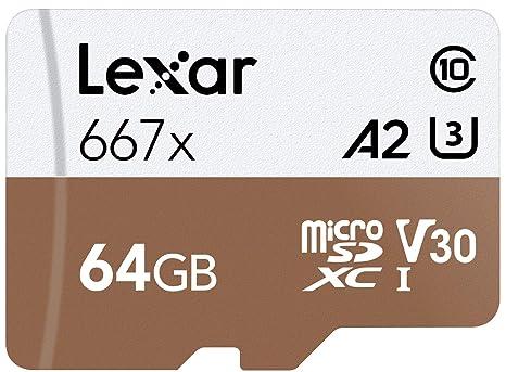 Lexar Professional 667X 64GB MicroSDXC UHS-I/U3 Card (LSDMI64GBNA667A)