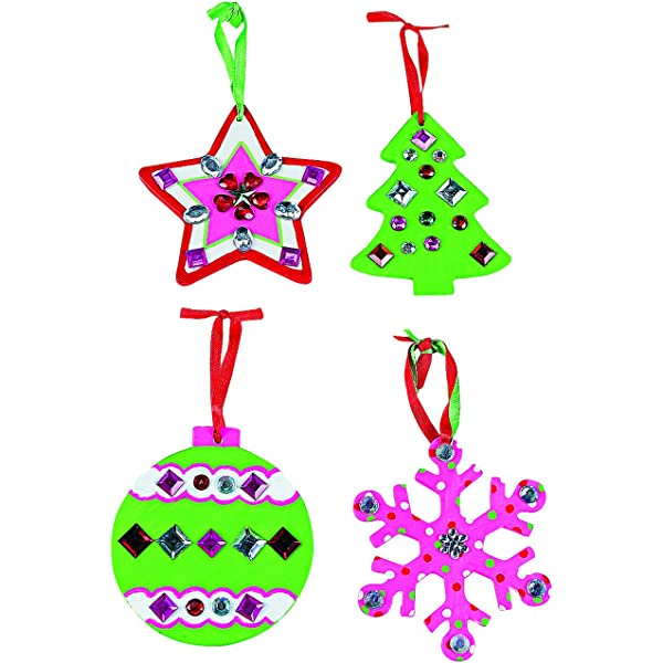 Christmas Tree Ornaments LOT 3 Decorations Do it Yourself NEW Porcelain Decorate