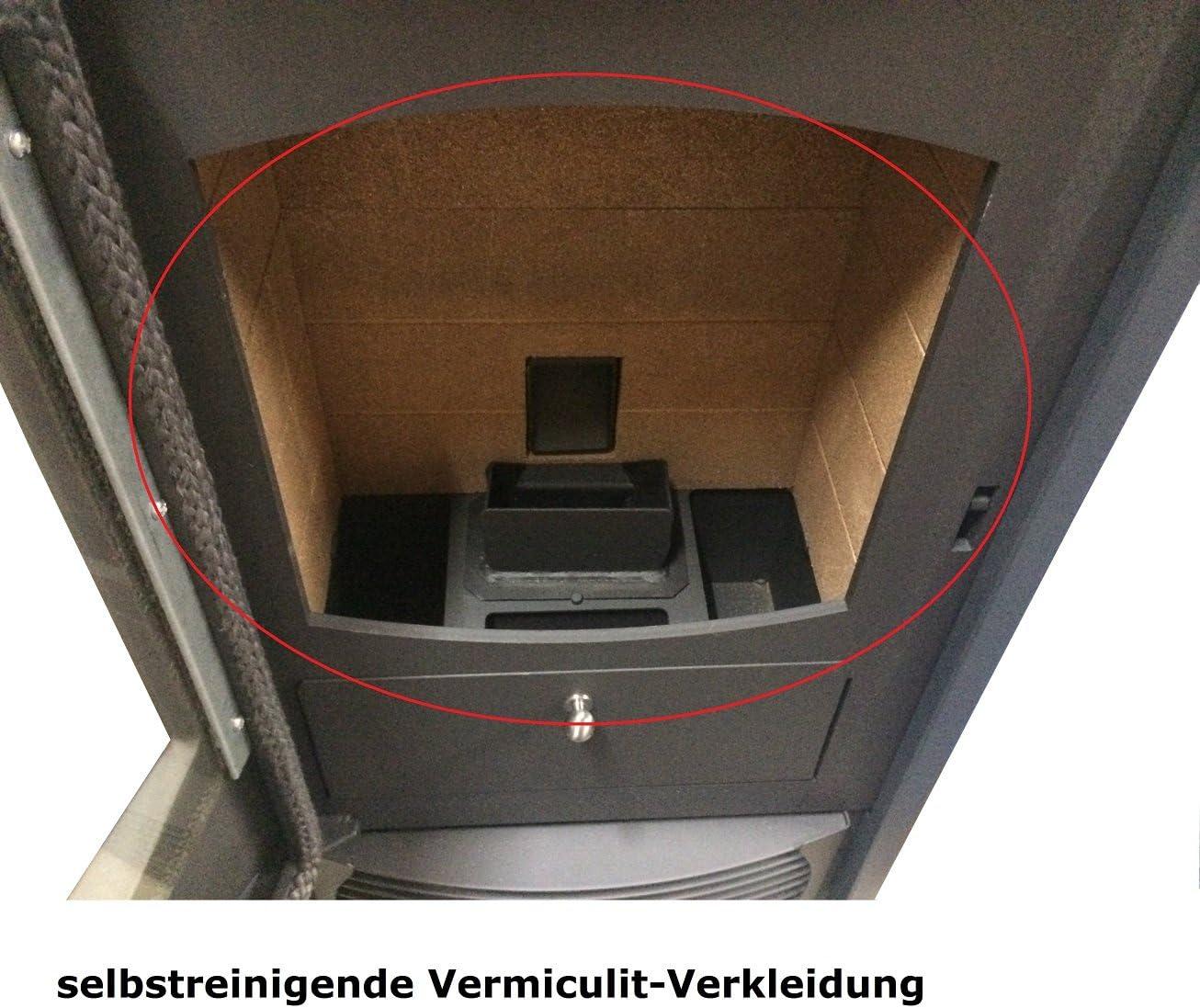 schenger Pellet Horno hp24/de Comfort gris oscuro