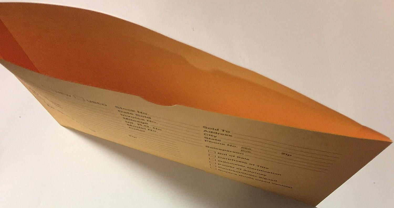 Golden Buff 100 Vehicle Deal Jacket Car Sales Envelope P