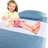 Chummie Luxury Reusable Bamboo Waterproof Bedding Overlay for Bedwetting, Blue, 40 x 28 Inches