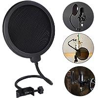 Pop filter, 6 inch microfoon popbescherming, microfoon ronde vorm wind pop filter met standaard clip, voor Blue Yeti…