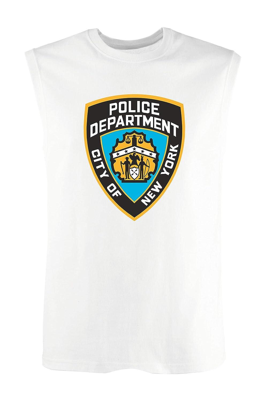 T-Shirtshock Canottiera Uomo Bianco TM0214 New York City Police Department Flag