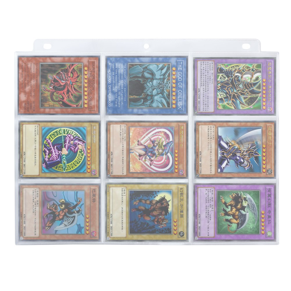 Homgaty 450 Pockets Trading Card Storage Album Pages Card Collector Coin Holders Wallets Sleeves Set Perfect for Skylanders Pokemon Top Trumps